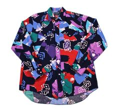 Vintage 90s Wrangler Colorful Western Button Up Shirt Mens Size Large