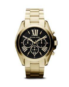 Michael Kors Gold-Tone Bradshaw Watch, 43mm