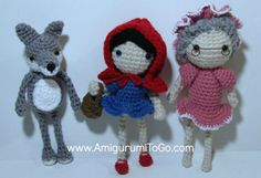 Amigurumi To Go: Little Red Riding Hood Free Pattern