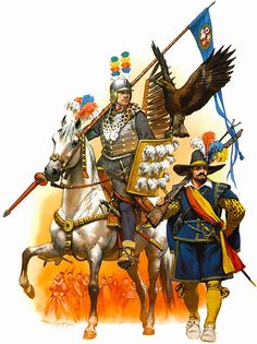 Cracow, 1605 • Scout, Gostomski's Hussars, parade dress • Militiaman
