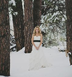 Trash the dress in the snow on anniversary