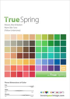 Colors for a True Spring Woman www.inventyourimage.com Copyright © 2011 No part of these materials may be  reproduced, distributed or transmitted in any form or by any means  unless prior written permission is given by  Lisa K. Ford- CEO and Founder of  Invent Your Image, LLC