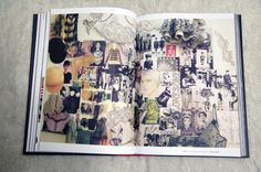 Fashion Design Sketchbook collage -  inspiration gathering, the fashion design process