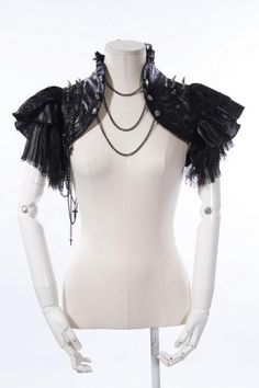 RQ BL Rock party dance fur Lace shrug Gothic Cape 21222-in Scarves from Apparel & Accessories on Aliexpress.com