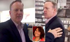 Spicer confronted in an Apple Store by woman who calls Trump 'fascist'