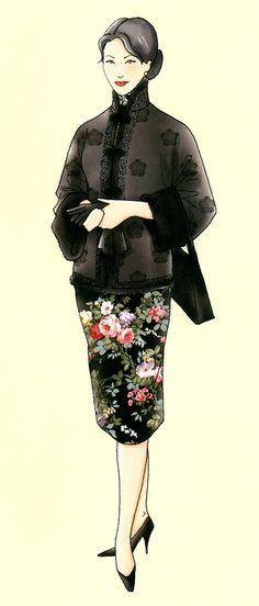 标题 20世纪60年代台湾旗袍4
