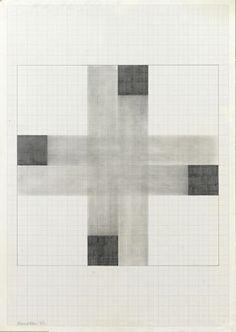 Richard Allen untitled, 1980    ENP6, pencil on paper, 84cm x 59.5cm (total size) 51cm x 51cm (image size)  http://richard-allen-artist.com/painting.php?p=97=1