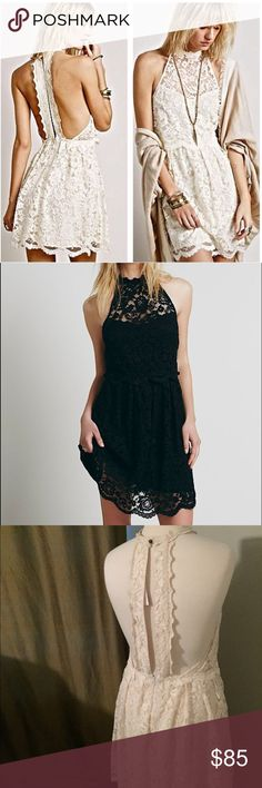 Free People Lost in a dream ivory lace dress Brand new. Free People Dresses Mini