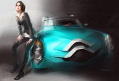 Concept cars and trucks: Concept vehicle illustrations by Vadim Gousmanov