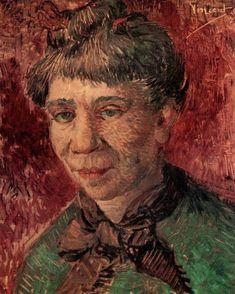 Portrait of a Woman (Madame Tanguy), Vincent van Gogh Medium: oil on canvas