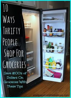 Save money on groceries with these thrifty tips. S