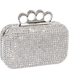 Crystal Hardcase Clutch Silver