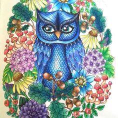 Maria Trolle's Blomstermandala - Owl in the Flowers