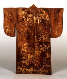 Surihaku (Noh costume) kimono, Azuchi-Momoyama period (16th century), Important Cultural Property of Japan