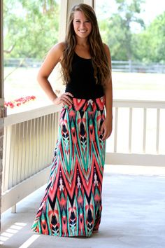 Not a big skirt person but I like this-Painted Desert Maxi Skirt Pretty Outfits, Cute Outfits, Pretty Clothes, Looks Style, My Style, Sweet Style, Fade Styles, Swagg, Skirt Outfits