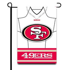 "San Francisco 49ers 12.5"" x 18"" Double-Sided Jersey Foil Garden Flag - $9.59"
