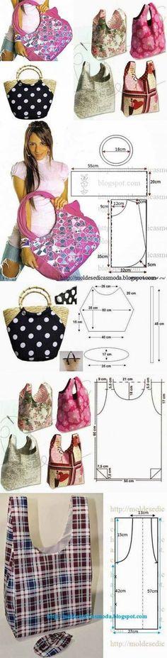Еще выкройки сумочек...♥ Deniz ♥