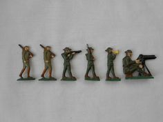 Antique Hand Made Lead Toy Soldiers by TheArtifactAttic on Etsy