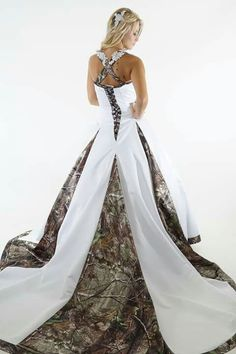 Here's a camouflage wedding dress lol
