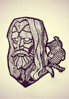 Slavic Forest Spirit by nightgrowler