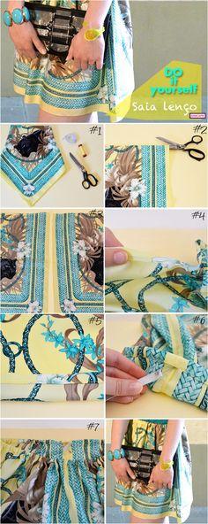 DIY saia de lenço