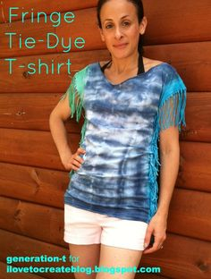 Altered Tie-Dye T-shirt Challenge Featuring Megan of Generation T