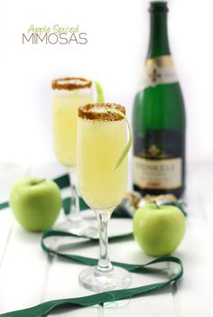 Apple Spiced Mimosas