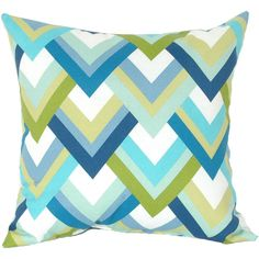Resort Caribbean Square Pillow ❤ liked on Polyvore featuring home, home decor, throw pillows and square throw pillows