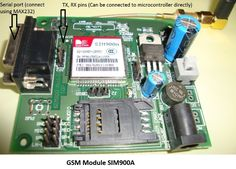 PIC microcontroller tutorial with circuit diagram and code to interface a GSM module with microcontroller and make and receive calls using the module. Electronics For You, Electronics Components, Electronics Projects, Diy Amplifier, Serial Port, Circuit Diagram, Gps Tracking, Electronic Gifts, Arduino