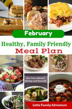 In February, Get Healthy with this Family Friendly Meal Plan - This meal planner is filled with clean eating dinner recipes with real food ingredients. It's healthy food your family will love to eat.