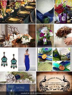 #peacock inspiration board