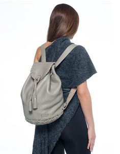 Leather Grey Elephant Backpack Bag - School bag with Tassels - Handmade Pouch - Backpack - Shoulder Bag - Travel Bag - Laptop bag by EleannaKatsira on Etsy Backpack Bags, Leather Backpack, Fashion Backpack, White Statement Necklaces, Metal Necklaces, Greek Sandals, Open Toe Sandals, Leather Bags Handmade, Handmade Bags