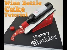 How to make a 3D Wine bottle birthday cake tutorial. Bake and Make with Angela Capeski. - YouTube