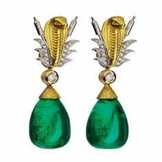 Theo Fennel. Emerald earrings...♡