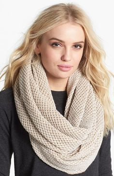 LOVE! Echo Sparkle Reversible Tube Scarf available at #Nordstrom