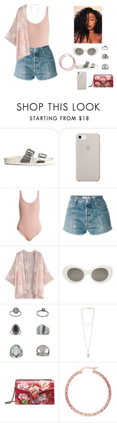 """""""Sem título #511"""" by jamyyalmeida on Polyvore featuring moda, H&M, Solid & Striped, RE/DONE, Acne Studios, Topshop, Givenchy, Gucci e BillyTheTree"""