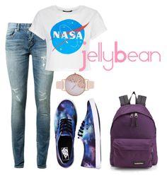 """Galaxy"" by belibreezy on Polyvore featuring mode, Yves Saint Laurent, Vans, Eastpak et Olivia Burton"