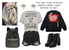 """""""Silent Rocker~"""" by deep-quotes ❤ liked on Polyvore featuring Topshop, Chicnova Fashion, A