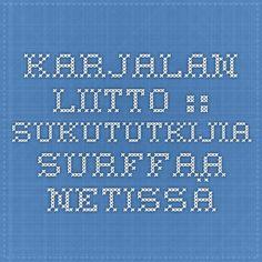 Karjalan Liitto :: Sukututkijia surffaa netissä Genealogy, Tech Companies, Surf, Periodic Table, Company Logo, Logos, Periodic Table Chart, Surfing, Periotic Table