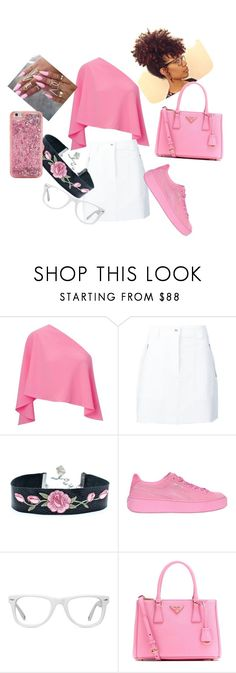 """Pink on Everything"" by bukkyonibokun ❤ liked on Polyvore featuring Roland Mouret, rag & bone, Puma, Muse, Prada and ban.do"