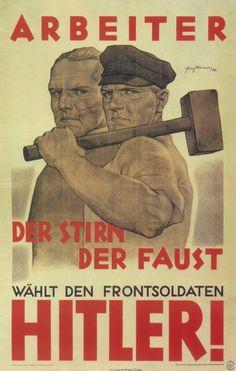 Nazi propaganda poster aimed at workers