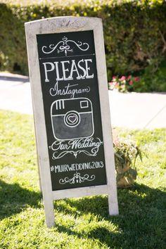 Wedding sign rustic Instagram chalkboard