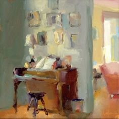 ◇ Artful Interiors ◇ paintings of beautiful rooms - Interior - Christine Lafuente