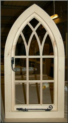 Gothic arched traditional window.