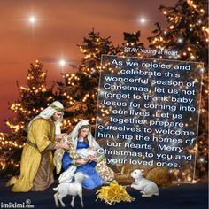 As we rejoice and celebrate this wonderful season of Christmas, let us not forget to thank baby Jesus for coming into our lives. Let us together prepare ourselves to welcome him into the homes of our hearts. Merry Christmas to you and your loved ones.