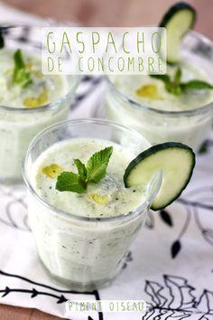Gaspacho de concombre à la menthe- Cucumber & fresh mint gaspacho