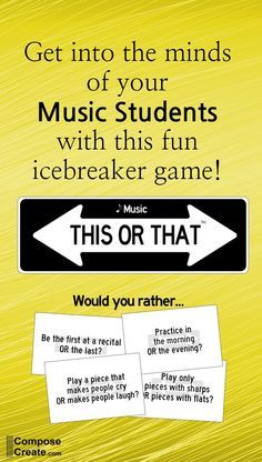 Great icebreaker game for music class, group lessons, piano teaching, or just getting to know students better. #music #education #piano #teaching