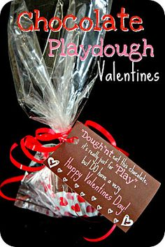 Chocolate Playdough Valentines