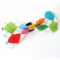 Bowtie Argyle Multi Color, $13, now featured on Fab. Look @Kavya! Kingston would look so cute in this.