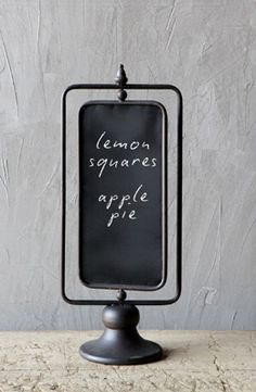 22.00 SALE PRICE! Use the Two-Sided Chalkboard to write out a cocktail menu at your engagement party, or to display some of your favorite quotes! This chalkb...